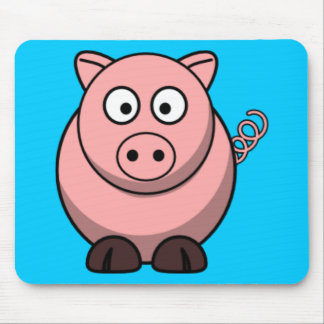 Cartoon Pig Mouse Pad
