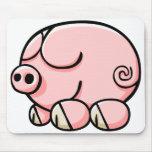 Cartoon Pig Mouse Pads