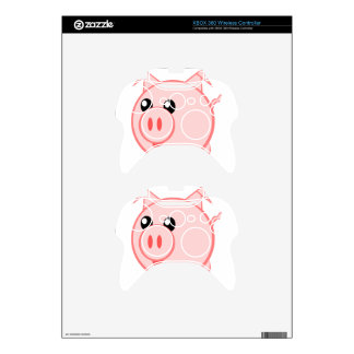 Cartoon Pig on Quality Products Xbox 360 Controller Decal