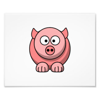 Cartoon pig photograph