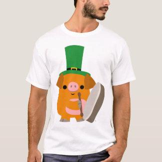 Cartoon Pig playing Bodhran :) children T-shirt