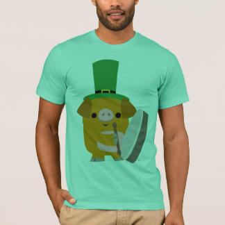 Cartoon Pig playing Bodhran :) St Patty T-shirt