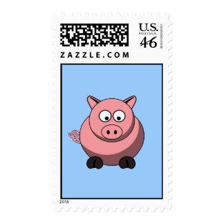 Cartoon Pig Postage