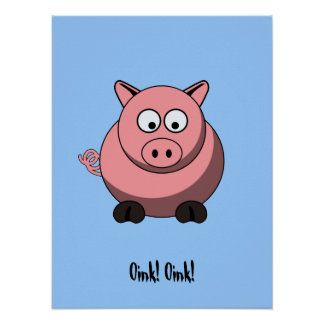 Cartoon Pig Poster