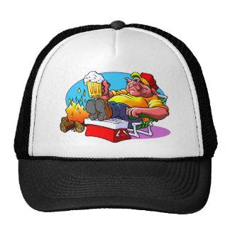 Cartoon Pig Roast Trucker Hat