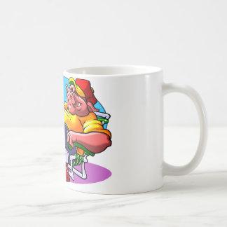 Cartoon Pig Roast Mugs