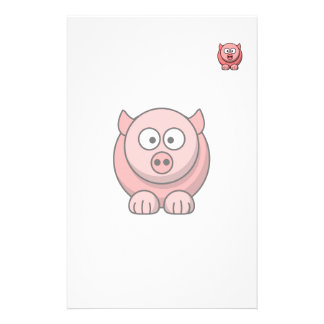 Cartoon pig personalized stationery