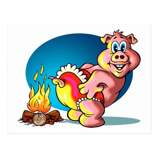 Cartoon Piglet Postcard