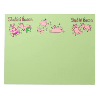 Cartoon Pigs Notepad