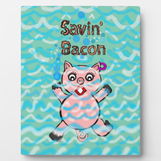 Cartoon Pigs Plaque