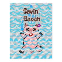 Cartoon Pigs Postcard