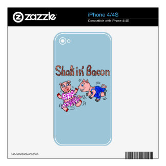 Cartoon Pigs Skin For iPhone 4
