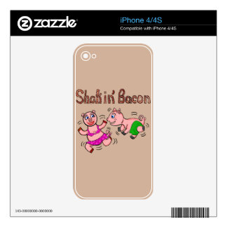 Cartoon Pigs Skin For iPhone 4S