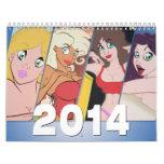 Cartoon Pin-Up Calendar 2014