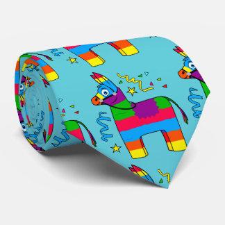 Cartoon Pinata Burro Neck Tie