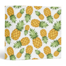 Cartoon Pineapple Pattern Binder