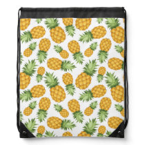 Cartoon Pineapple Pattern Drawstring Bag
