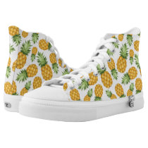 Cartoon Pineapple Pattern High-Top Sneakers