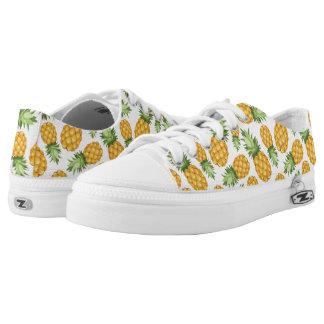 Cartoon Pineapple Pattern Low-Top Sneakers