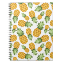 Cartoon Pineapple Pattern Notebook
