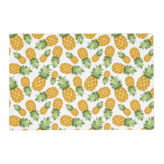 Cartoon Pineapple Pattern Laminated Place Mat