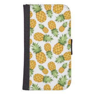 Cartoon Pineapple Pattern Phone Wallet Case