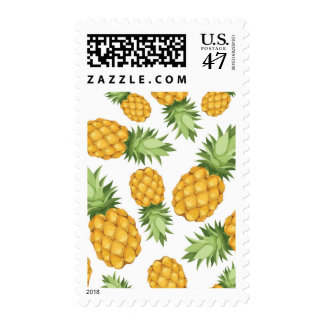 Cartoon Pineapple Pattern Postage