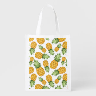 Cartoon Pineapple Pattern Reusable Grocery Bag