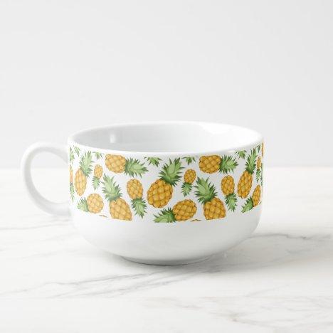 Cartoon Pineapple Pattern Soup Mug