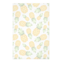Cartoon Pineapple Pattern Stationery