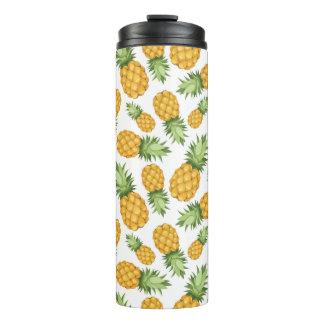 Cartoon Pineapple Pattern Thermal Tumbler