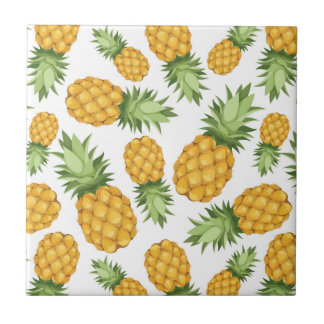 Cartoon Pineapple Pattern Tile