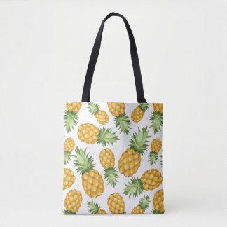 Cartoon Pineapple Pattern Tote Bag