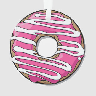 Cartoon Pink Donut with Icing