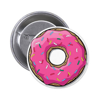 Cartoon Pink Donut With Sprinkles Pins