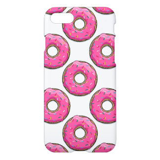 Cartoon Pink Donut With Sprinkles iPhone 7 Case