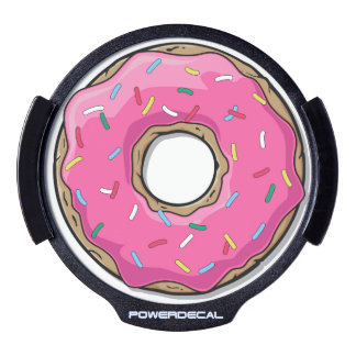 Cartoon Pink Donut With Sprinkles LED Car Decal