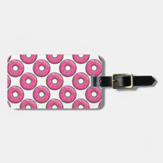 Cartoon Pink Donut With Sprinkles Travel Bag Tags
