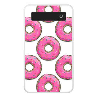 Cartoon Pink Donut With Sprinkles Power Bank