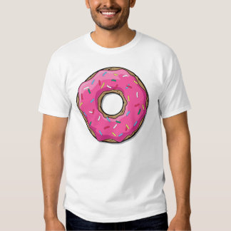 Cartoon Pink Donut With Sprinkles T Shirt