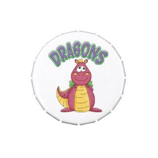 Cartoon Pink Dragon Custom Birthday Party Favor Jelly Belly Tin