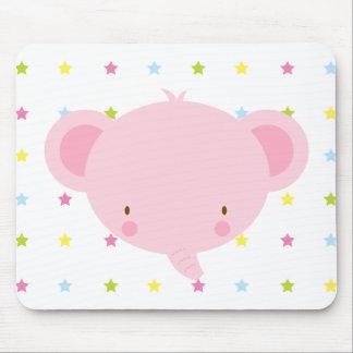 Cartoon Pink Elephant Mousepad