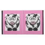 Cartoon Pink Nose Cow Cute Funny Farm Animal iPad Folio Cases