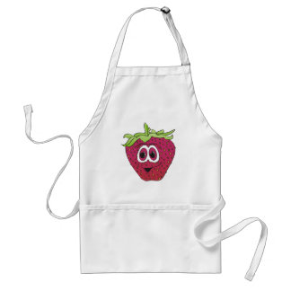 Cartoon Pink Strawberry Adult Apron