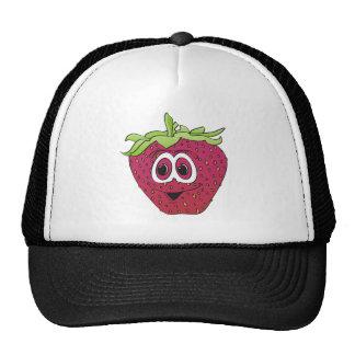 Cartoon Pink Strawberry Trucker Hat