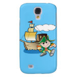 Cartoon Pirate and Ship Galaxy S4 Cases