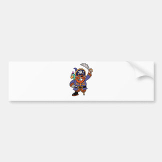 Cartoon Pirate Bumper Sticker