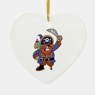 Cartoon Pirate Ceramic Ornament
