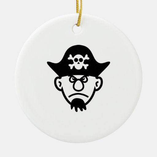 Cartoon Pirate Christmas Ornaments