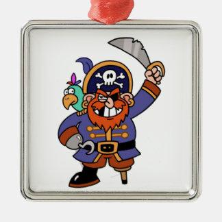 Cartoon Pirate Metal Ornament